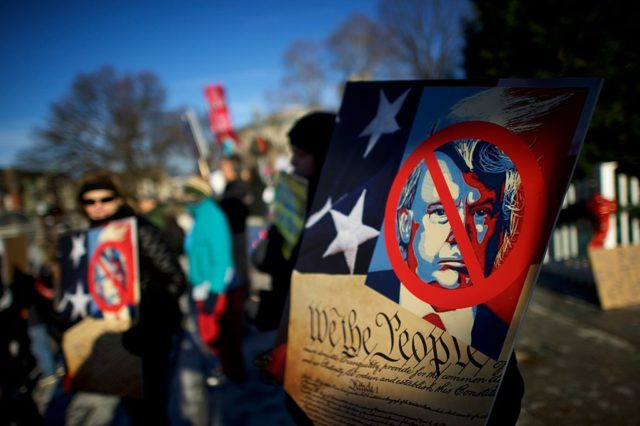 Anti-Trump-Proteste. 19. Dezember 2016. Foto: Mark Makela/Getty Images