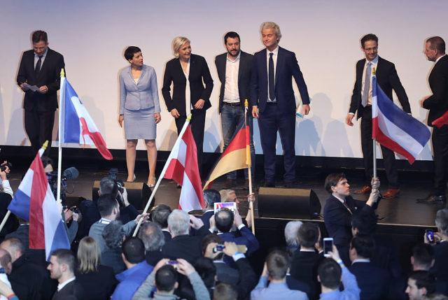 Treffen in Koblenz mit Frauke Petry, Geert Wilders, Marine Le Pen, Matteo Salvini und anderen. 21. Januar 2017. Foto: Sean Gallup/Getty Images