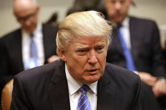 US-Präsident Donald Trump im Weißen Haus. 23. Januar 2017. Foto: Chip Somodevilla/Getty Images