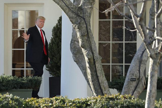 US-Präsident Donald Trump im Weißen Haus. 25. Januar 2017. Foto: Chip Somodevilla/Getty Images