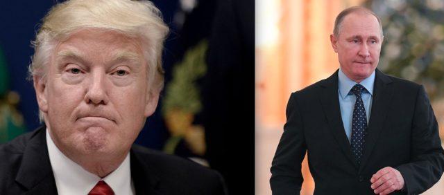US-Präsident Donald Trump (l) und der russische Präsident Wladimir Putin. Foto: Getty Images