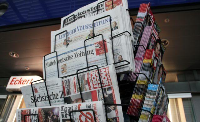 Zeitungen und Zeitschriften an einem Kiosk Foto: über dts Nachrichtenagentur