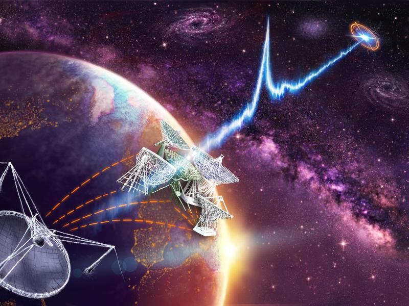 Zwerggalaxie ist Ursprung mysteriöser Radioblitze
