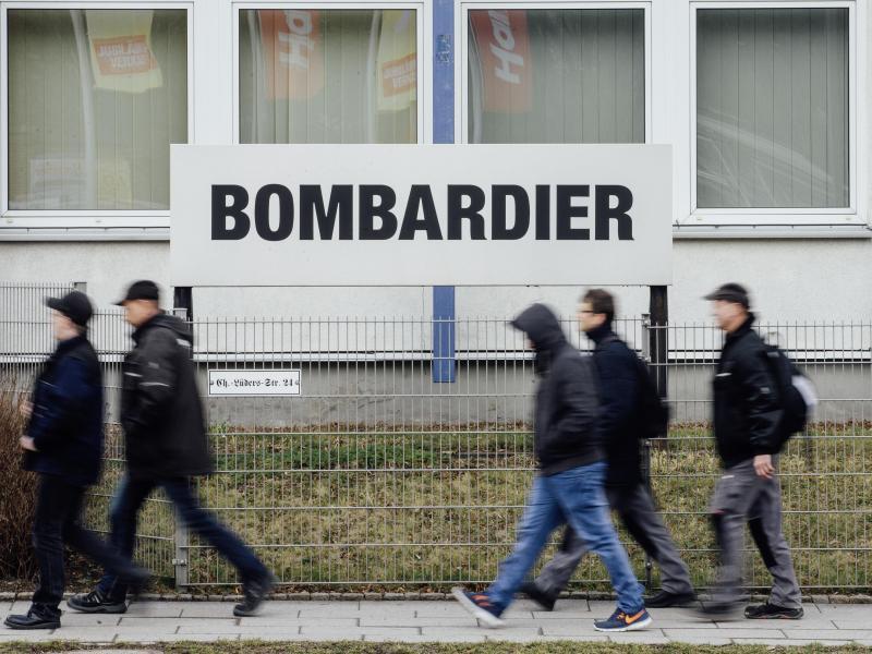 Bombardier will in Deutschland bis zu 2200 weitere Stellen abbauen