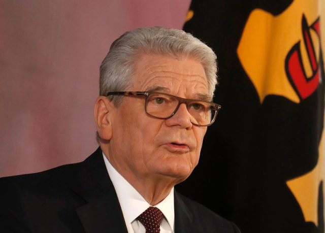 German President Joachim Gauck gives a speech on January 18, 2017 at the presidential Bellevue Palace in Berlin, the last speech of his term in office. / AFP / Odd ANDERSEN        (Photo credit should read ODD ANDERSEN/AFP/Getty Images)