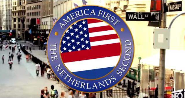 """""""America First"""" - aber danach kommt gleich das eigene Land Foto: Screenshot https://www.youtube.com/watch?v=ELD2AwFN9Nc"""