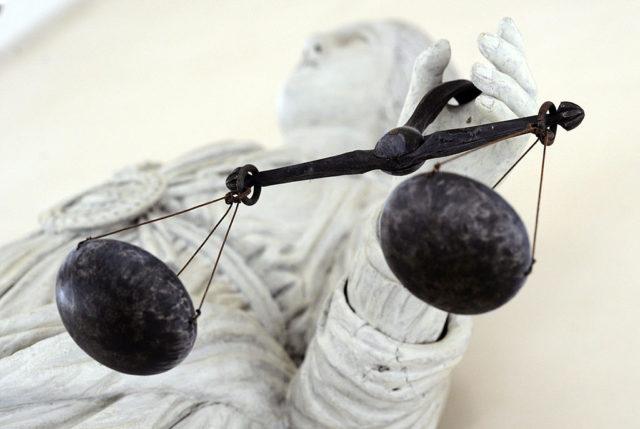 Statue der Justitia, Göttin der Gerechtigkeit. Foto: DAMIEN MEYER/AFP/Getty Images