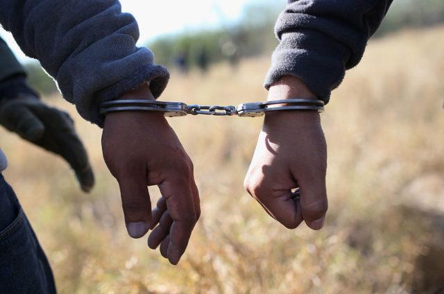 Festnahme von illegalen Einwanderern in den USA. Foto: John Moore/Getty Images