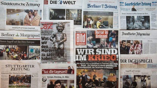 Deutsche Zeitungen. (Symbolbild) Foto: ODD ANDERSEN/AFP/Getty Images