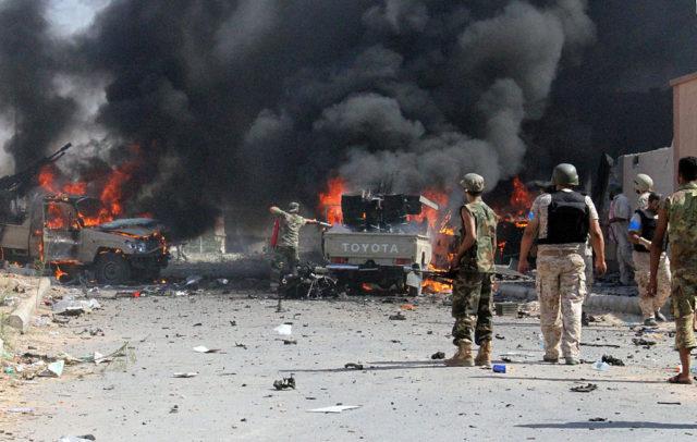 Krieg in Libyen, 2016. Foto: STR/AFP/Getty Images