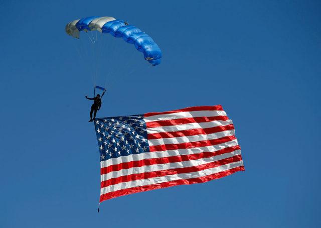 US-Flagge Foto: Isaac Brekken/Getty Images for Madame Tussauds Las Vegas