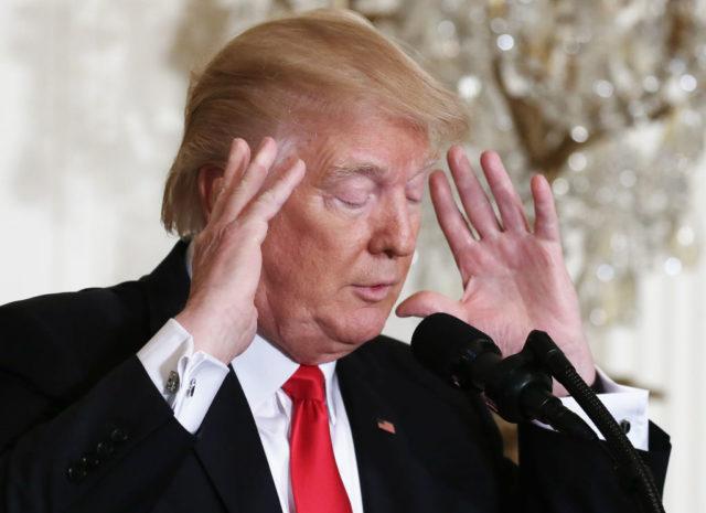US-Präsident Donald Trump während einer Pressekonferenz am 16. Februar 2017 in Washington. Foto: Getty Images