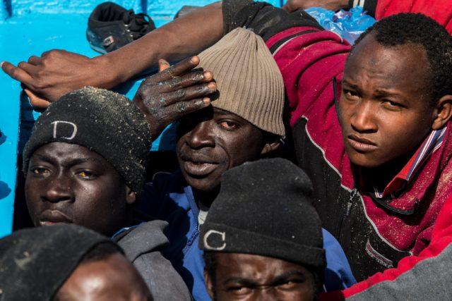 Migranten aus Libyen Foto: David Ramos/Getty Images