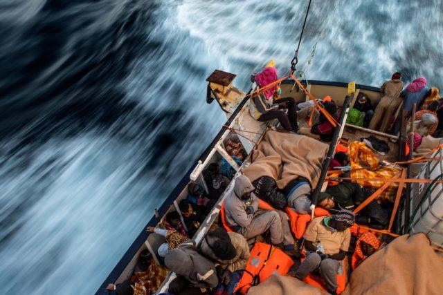 Bootsflüchtlinge aus Libyen. Foto: David Ramos/Getty Images