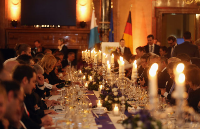 MUNICH, GERMANY - FEBRUARY 18:  General atmosphere during a reception at Munich royal residence during the 2017 Munich Security Conference on February 18, 2017 in Munich, Germany. The 2017 Munich Security Conference, which brings together leading government figures from across the globe to discuss issues of common security concern, is taking place in the wake of the ascendence of Donald Trump to the U.S. presidency and the appointment of a new U.S. government cabinet. Trump has repeatedly called for a more isolationist United States, which has caused alarm among many world leaders concerned about the U.S.'s continued commitment to matters of global security.  (Photo by Johannes Simon - Pool / Getty Images)