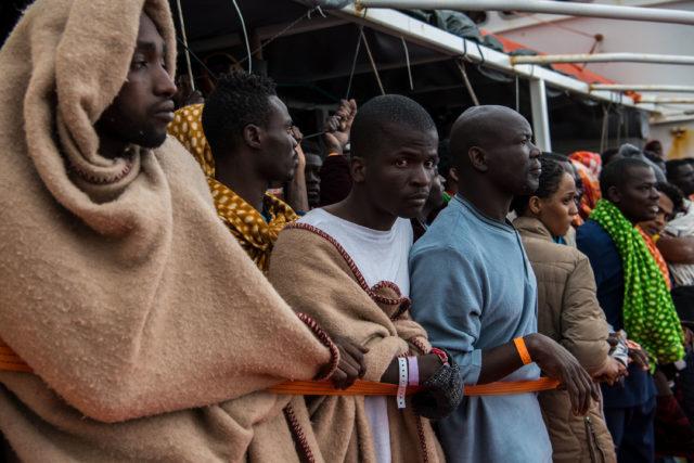 Flüchtlinge in Libyen Foto: David Ramos/Getty Images