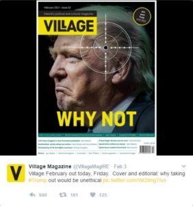 Trump Cover-Bild Village magazin