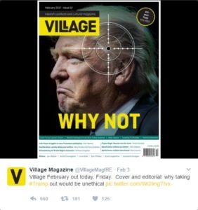 Trump Cover-Bild Village magazin