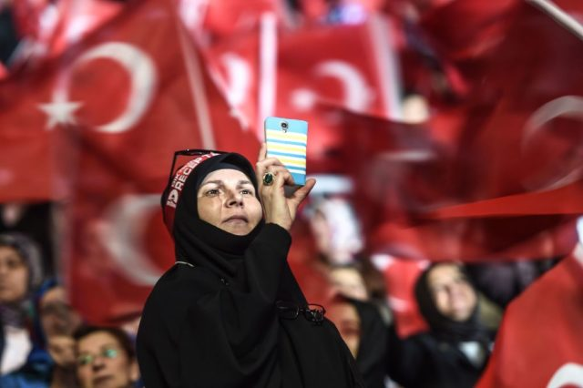 Pro-Erdogan Demonstration in Istanbul, Türkei. Foto: OZAN KOSE/AFP/Getty Images