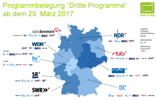 Programmbelegung ab 29. März 2017. Foto: Screenshot / http://www.dvb-t2hd.de/files/Programmbelegung_Dritte_Programme_Stand_92016.jpg