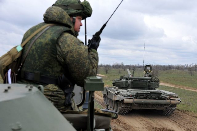 Russisches Militär in Tschetschenien Foto: SERGEY VENYAVSKY/AFP/Getty Images