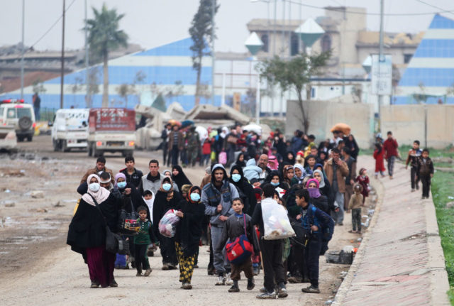 Flüchtlinge in Mossul, Irak. 15. März 2017. Foto: AHMAD AL-RUBAYE/AFP/Getty Images