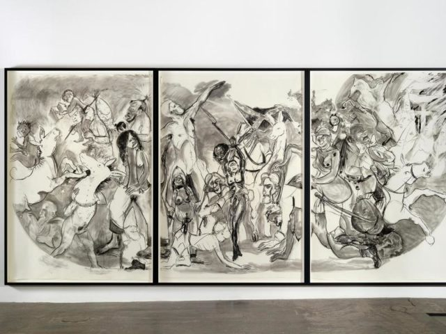 """""""40 Acres of Mules"""" (2015) von Kara Walker. Das New Yorker Museum of Modern Art (MoMA)hat seine Sammlung um zahlreiche politisch inspirierte Kunstwerke erweitert. Foto: MoMA New York/dpa"""