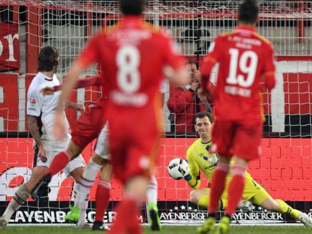 Union Berlin besiegte den 1. FC Nürnberg mit 1:0. Foto: Soeren Stache/dpa