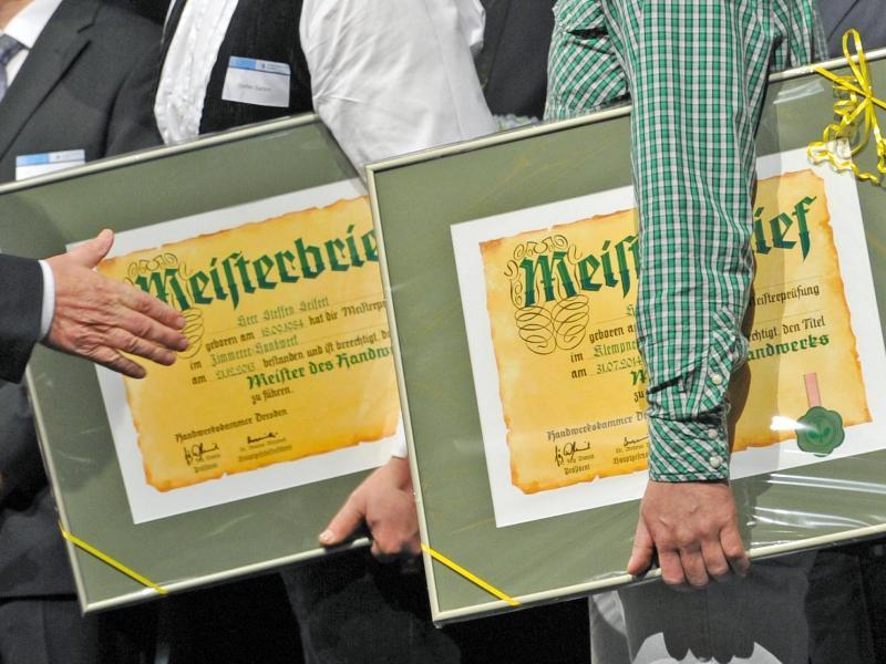 Handwerk: Regierung will deutsche Meisterpflicht wieder stärken
