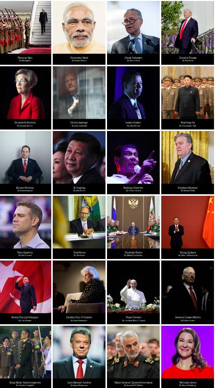 Die hundert einflussreichsten Personen des Jahres - ein Blick in die Liste der Politiker. Foto: screenshot/http://time.com/collection/2017-time-100/