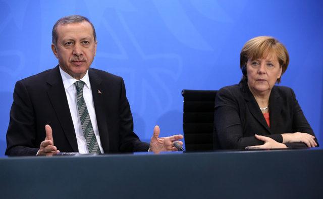 Bundeskanzlerin Angela Merkel und der türkische Staatschef Recep Tayyip Erdogan. Foto: Adam Berry/Getty Images