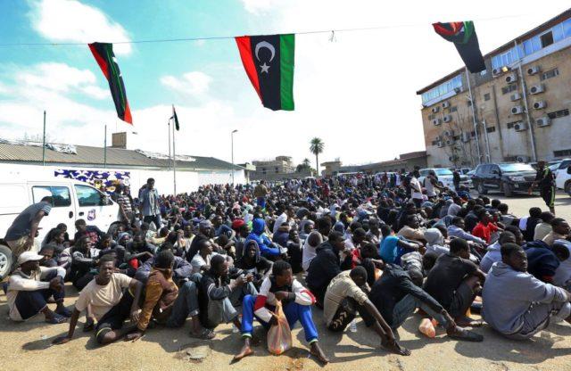 Flüchtlinge in Libyen Foto: MAHMUD TURKIA/AFP/Getty Images