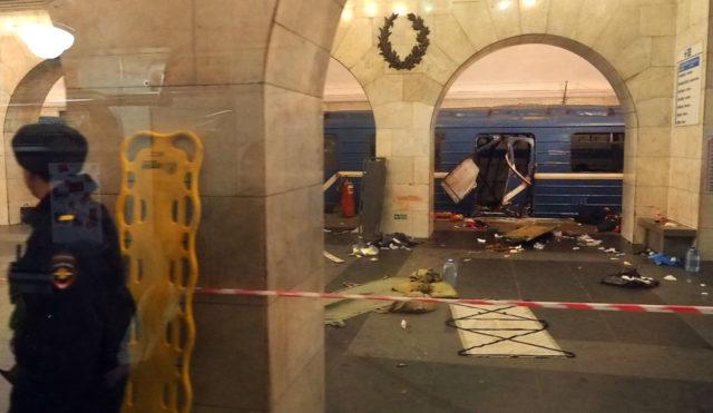 Anschlag in der Metrostation St.Petersburg. 3. April 2017, Russland. Foto: STR/AFP/Getty Images