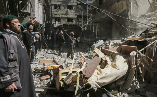 Krieg in Syrien. Foto: AMER ALMOHIBANY/AFP/Getty Images