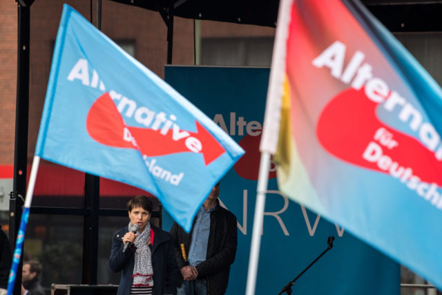 AfD-Veranstaltung in Essen. 8. April 2017. Foto: Lukas Schulze/Getty Images