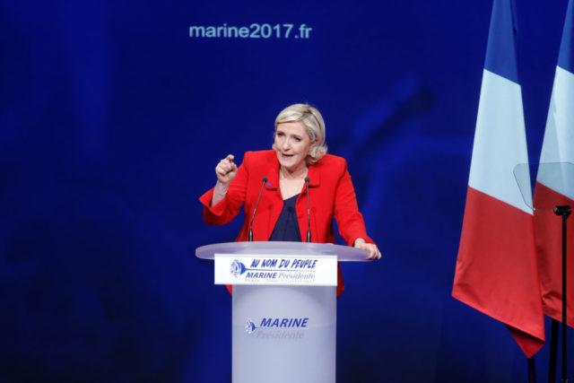 FN-Chefin Marine Le Pen   Foto: Sylvain Lefevre/Getty Images