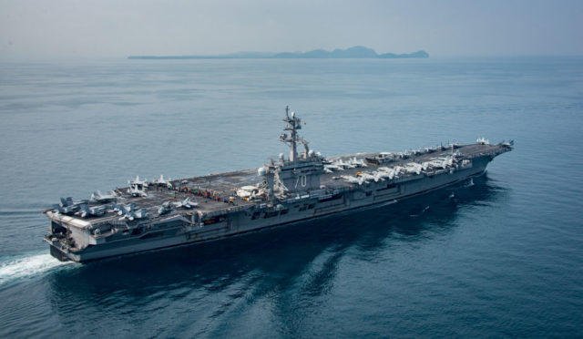 US-Flugzeugträger USS Carl Vinson Foto: Mass Communication Specialist 2nd Class Sean M. Castellano/U.S. Navy via Getty Images