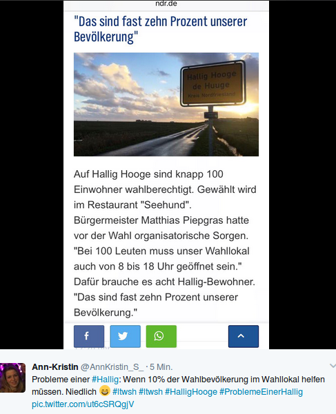 Wahlprobleme in SWH. Foto: screenshot/twitter
