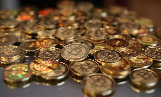 Bitcoin-Münzen (Symbolbild). Foto: George Frey/Getty Images