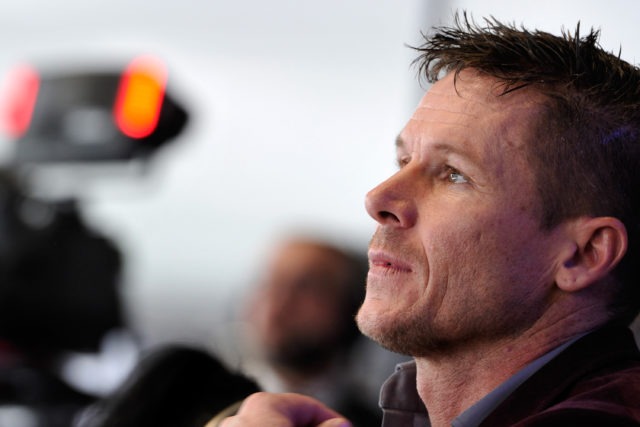 GENEVA, SWITZERLAND - MARCH 05:  Felix Baumgartner attends the VW presentation during the 83rd Geneva Motor Show on March 5, 2013 in Geneva, Switzerland. Held annually the Geneva Motor Show is one of the world's five most important auto shows with this year's event due to unveil more than 130 new products.  (Photo by Harold Cunningham/Getty Images)