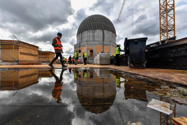 Baustelle Berliner-Stadtschloss. Foto: JOHN MACDOUGALL/AFP/Getty Images