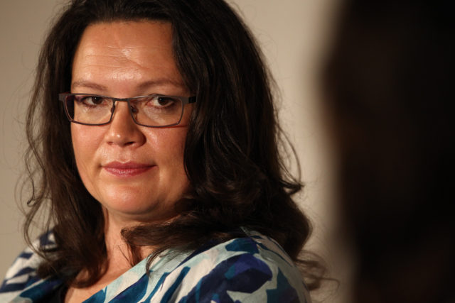Bundesarbeitsministerin Andrea Nahles. Foto: Mathis Wienand/Getty Images for BRIGITTE