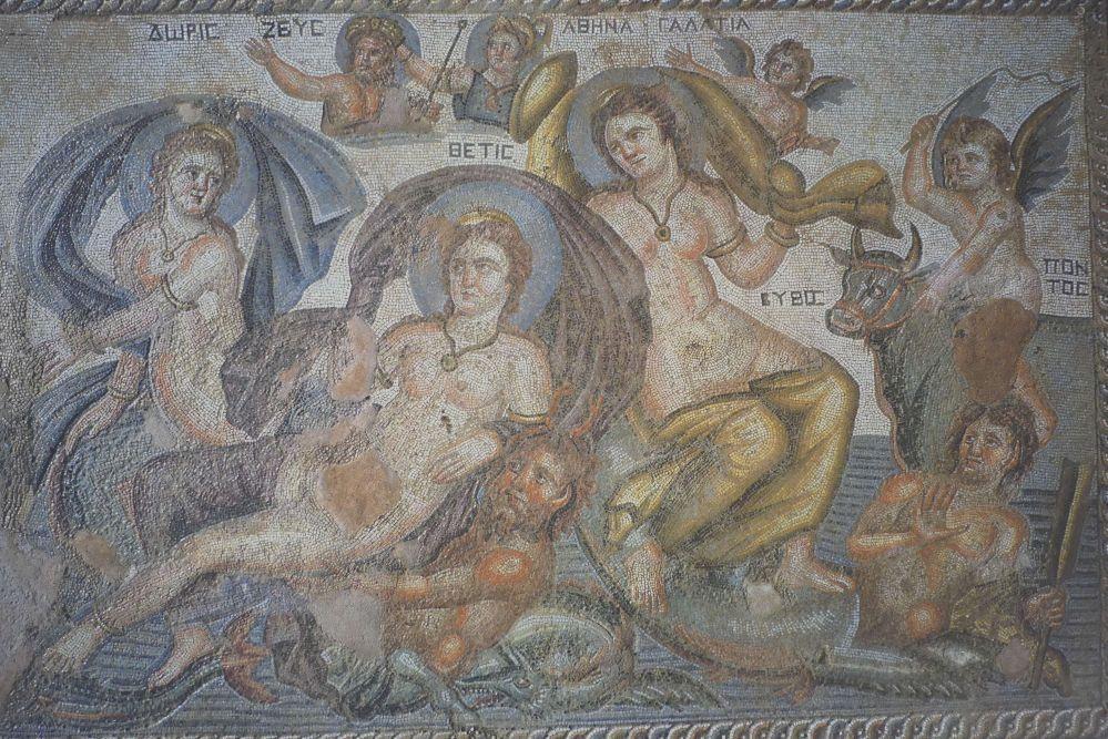 Mosaik im Haus des Dionysos bei Paphos. Foto: Bernd Kregel