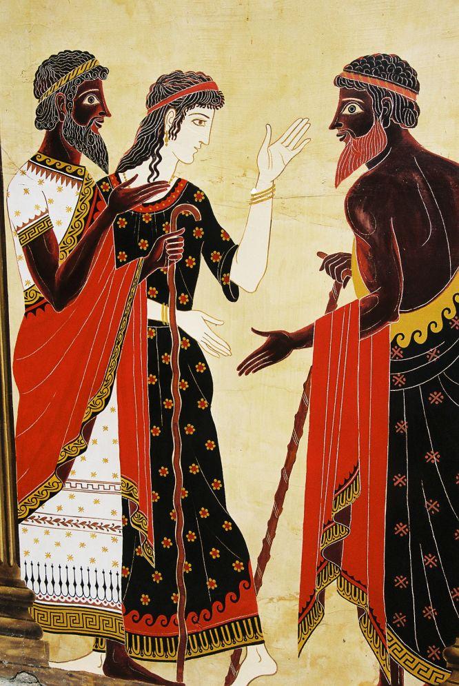 Wandmalerei mit Motiv aus der Mythologie. Foto: Bernd Kregel