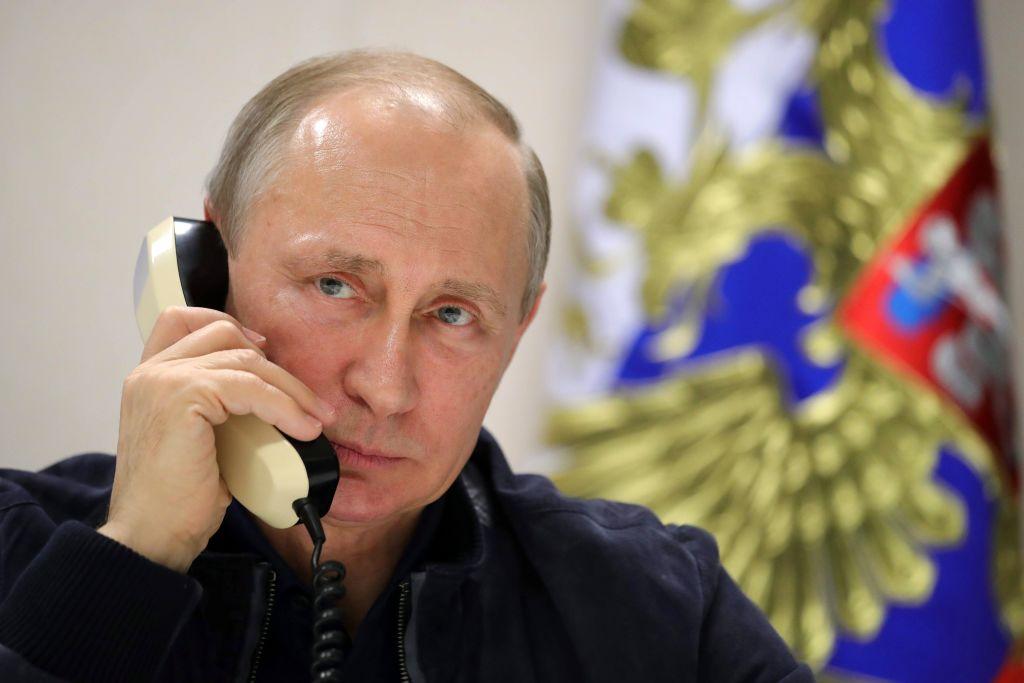 Präsident Putin eröffnet weitere Bauphase der Gas-Pipeline TurkStream – Telefonat mit Erdogan im Fernsehen zu sehen