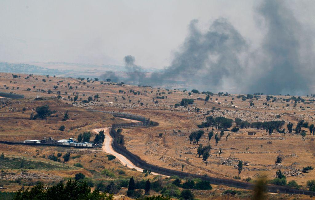 Israelisches Kampfflugzeug greift Stellung der syrischen Armee auf Golanhöhen an