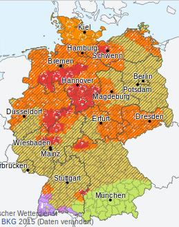 Foto: Screenshot/Unwetterkarte dwd.de, 22.Juni 2017, 20:20 Uhr
