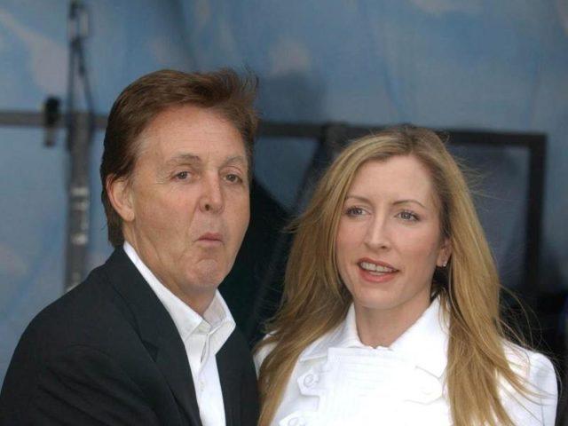 Paul McCartney und Heather Mills - ihre Ehe endet in einem Rosenkrieg. Foto: Rui Viera/dpa
