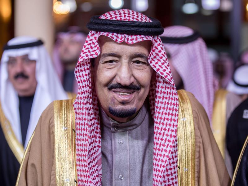 Saudischer König reist mit Thron nach Hamburg