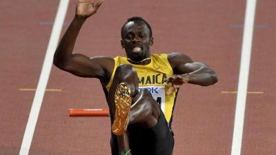 Krampf stoppt Usain Bolt im letzten Rennen